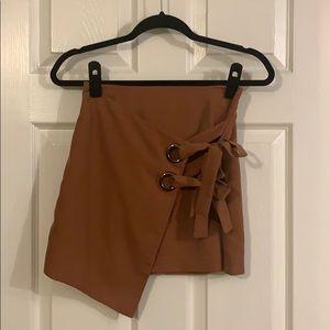 Burnt Orange Asymmetrical Skirt